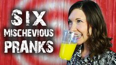 6 Mischievous Tricks & Pranks - for April Fools'   So you want to cause a little mischief, do you?  Here are 6 super easy tricks to get you started.  More videos at http://www.thekingofrandom.com  Download the drive through prank sign here: http://ow.ly/v5gFb