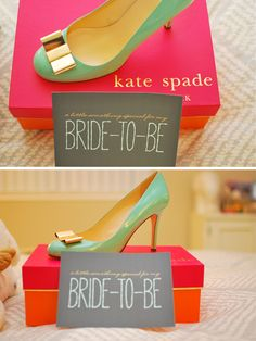 Kate Spade wedding shoes - a gift from my fiance, see the post at jforjamie.com