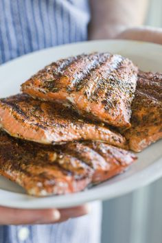 Grilled Salmon with a Tuscan Herb Rub