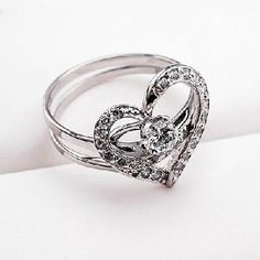 "2 in 1 Love alloy with gold plated Rings - design ""Love"" (Lucky) couple Rings - FREE SHIP"