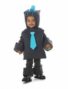 12 Halloween Costumes That Morph to Year-Round Dress-Up | Working Mother:  Roscoe the Robot. The trend among savvy parents is for purchasing sturdy costumes that can be worn not just on Halloween, but for dress-up throughout the year—like this completely sweet robot costume. It's made of soft fleece and velour that both looks great and doesn't itch, ensuring that your toddler will come back from trick-or-treating in fine fiddle, with even his headpiece intact ($50, onestepahead.com).