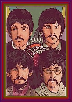 Fabulous portrait of the Beatles #beatles #portrait #music