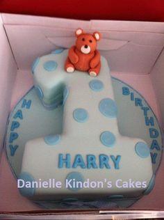Cute boys first birthday cake