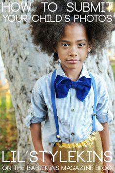 How to submit children's photography to Babiekins magazine blog.