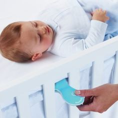"""A portable, battery-operated vibrating pad that soothes your baby to sleep - because pressing """"on"""" is much faster than driving around the block. It's the little things.®Eligible for Free Shipping over $50"""