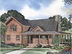 Log home plan