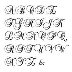 Typography Giclee Print Monogram Initial Wall Art BrockScript Letter J