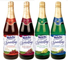Welch's Sparkling Juice Cocktails. Red Grape, White Grape, Blueberry ...