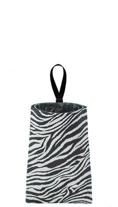Auto Trash  Car Litter Bag  Zebra Stripes by TheModMobile on Etsy, $19.00