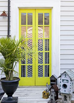 Rue Magazine (May 2012  Issue). Photography by Sara Essex Bradley. Design by Valorie Hart. Love a bright door!!
