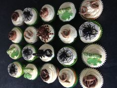 Creepy Crawly birthday cupcakes