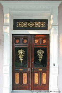 Faux Bois and Gilded doors Stenci Star Teri Taylor Roddi | Paint + Pattern