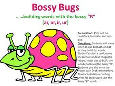 This activity includes 36 word building mats for students to build words using the controlled R (bossy R)such as: ir, ur, or, ar.  Students can use...