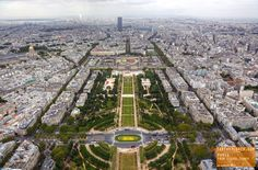 Amazing View of Paris from the Top of The Eiffel Tower