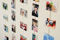 hang photo, photo display, craft, mini hanger, photo clip, hang pictures, hanging photos, diy, magnet photo