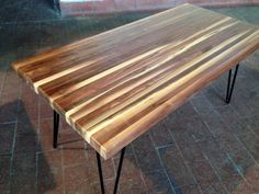 Wood Butcher Block Table 5207 by MohrDecor on Etsy, $580.00