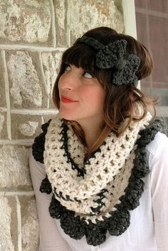 love the headband and the cowl - adorable!