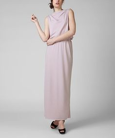 Going on my wish list/inspiration board: Grace Kelly style! Pink Isabel Drape Maxi Dress by KORTAS #zulily #zulilyfinds