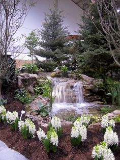 A gorgeous waterfall at Canada Blooms 2013