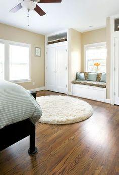 Built in closet/wardrobe with window seat