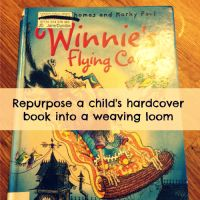Repurposed a Kid's Book to Make a Loom! Weaving.