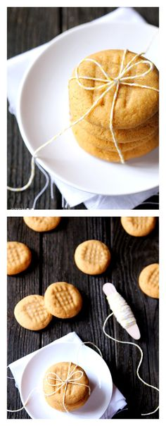 3-Ingredient Peanut Butter Cookies -- ridiculously easy, ridiculously good | gimmesomeoven.com #dessert #cookies