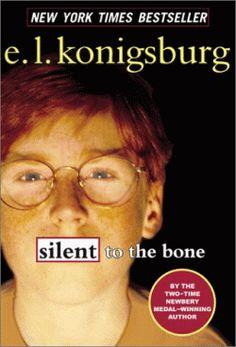 Silent to the Bone by E.L. Konigsburg book trailers, silent, book shelf, middl grade, 8th grade, konigsburg book, read 2013, book read, bones