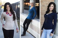 You and this sweater might become inseparable... Even when the clouds roll in, you can count on this long V-neck sweater to bring a little warmth to your wardrobe! A ribbed V-neckline keeps it chic, while the extra length gives it that slimming profile. Pair it with your favorite jeans or leggings for that cozy look. #sweaters #v-neck pickyourplum.com