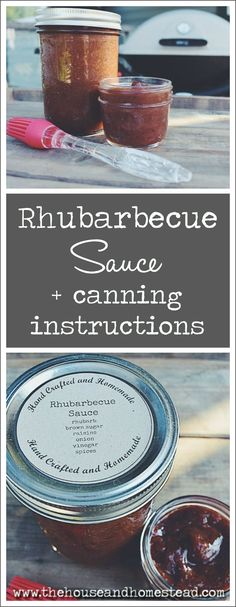 This rhubarb barbecue sauce canning recipe is so quick and easy to make and preserve, and tastes delicious as a marinade for grilled meats or as a condiment for homemade burgers or anything else you might use regular bbq sauce on! #rhubarb #rhubarbrecipes #rhubarbbarbecuesauce #rhubarbecuesauce #victorianbarbecuesauce #homemadebbqsauce
