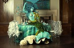 """decoracion para una boda con la tematica """"bajo del mar"""""""