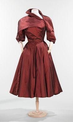 Charles James, 1950 cocktail dress, evening dresses, costum, fashion, museums, charl jame, art, charles james, 1950