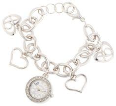 bracelet watch, silverton charm, charm bracelets, charms, xo7007 silver, silver dial, dial silverton, xoxo women, women xo7007