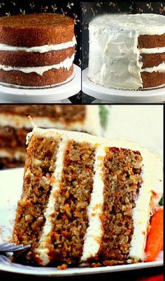 The Moistest Banana Carrot Cake with Cream of Coconut - Cream Cheese Frosting