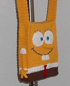 bob sponge - free crochet pattern.