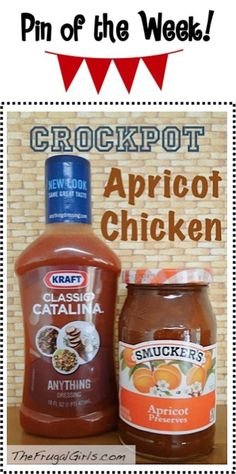 Crockpot Apricot Chicken Recipe! ~ from TheFrugalGirls.com ~ just a few ingredients and you've got yourself a delicious and easy Slow Cooker dinner! #slowcooker #recipes #thefrugalgirls
