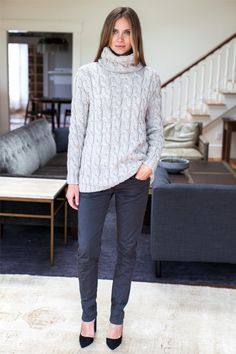 emerson fry || Big Cable Turtleneck Sweater
