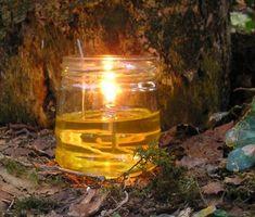 Homemade vegetable oil lantern