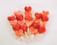 Valentines Day Breakfast: Fruit Kabobs