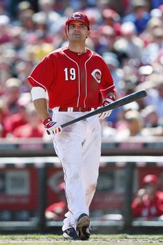 CINCINNATI, OH - APRIL 8: Joey Votto #19 of the Cincinnati Reds reacts after striking out against the Miami Marlins at Great American Ball Park on April 8, 2012 in Cincinnati, Ohio. The Reds came from behind to win 6-5. (Photo by Joe Robbins/Getty Images)
