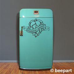 hops craft beer fridge decal kegerator vinyl sticker by beepart, $19.00