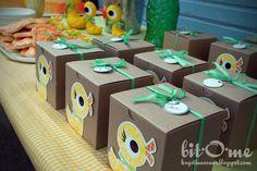 Duck party favor boxes brown box, party favors, birthdays, duck party, duck parti, favor boxes, babi, parti favor, parti idea