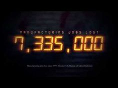 "See how many good jobs have been lost since 1979 thanks to so called ""free"" trade advocates. Thanks to the United Steelworkers (USW) for putting together the video."