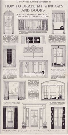 Drapery ideas for vintage homes