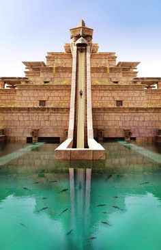 Leap of Faith water slide - Atlantis #Dubai http://VIPsAccess.com/luxury-hotels-dubai.html
