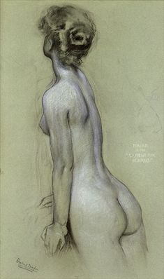 Study for naiad in lament for Icarus by Herbert James Draper--thank-you Laura for the correction.