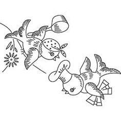 Pattern Detail | Bluebirds - Potholders | Needlecrafter