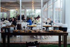 A desert table is a sweet addition to your reception at Fearrington #FearringtonWedding #FearringtonVillage | Photographed by @Krystal Kast Photography #KrystalKastPhotography