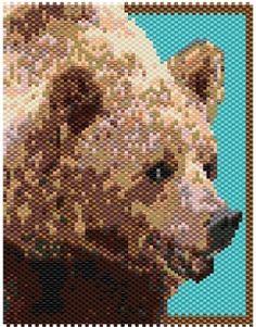 Brown Bear 12014 Peyote Bead Pattern PDF