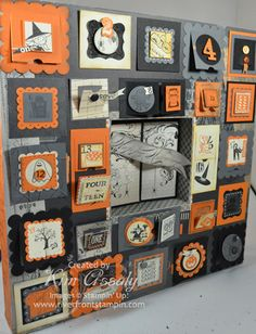 Stampin' Up! Halloween Count-Down Calendar  by Kim Assaly