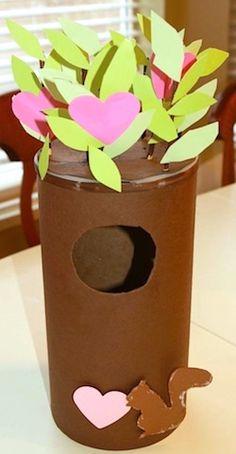 Tree Valentine box -- so cute!